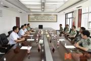 平舆县委书记张怀德带队慰问市军分区官兵